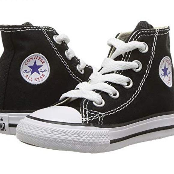 35549ba43a687 Converse Shoes | Black Chuck Taylor Hightop All Star Kicks | Poshmark